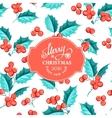 Mistletoe holiday card vector image