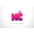 nc n c letter logo with pink purple color and vector image vector image
