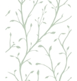 Ornamental Plant with Leaves Seamless Pattern vector image vector image