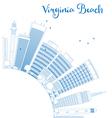 outline virginia beach skyline