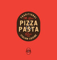 pizza and pasta italian restaurant logo vector image