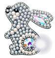 rabbit figurine made precious stones in the vector image vector image