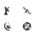 satellite icon design vector image vector image