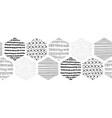 seamless border abstract geometric black vector image