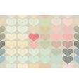 Seamless vintage heart pattern background vector image vector image