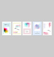 set hand-painted colorful watercolor card vector image vector image