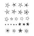 stars collection vector image vector image