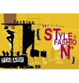STYLE and FASHION word cloud concept vector image vector image
