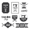 Tailor shop vector image vector image
