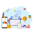 the concept of worker productivity vector image