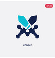 two color combat icon from army and war concept
