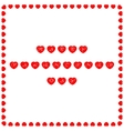 Valentines card with wishes written on hearts vector image