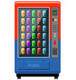 Vending maching in red and blue color vector image vector image