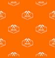 war axe pattern orange vector image vector image
