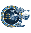 Zodiac signs - Libra vector image vector image