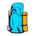 blue cartoon icon icon cartoon vector image