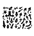 Collection of black arrow sign icon vector image