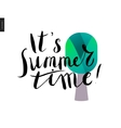 It s summer time lettering and a tree vector image