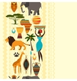 African ethnic seamless pattern with stylized icon vector image vector image