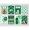 alternative medicine cards set vector image