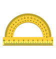 angle ruler icon realistic style vector image