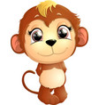 beautiful cute monkey vector image vector image