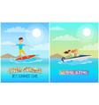 best summer time color poster vector image vector image