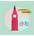 Big Ben bike icon flat vector image vector image