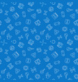 biotechnology blue seamless pattern in thin vector image vector image