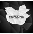 Black and white 3d polygonal shapes vector image vector image