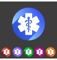 blue medical icon flat web sign symbol logo label vector image vector image
