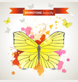 brimstone butterfly vector image vector image