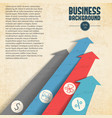 business background with arrows vector image vector image