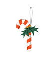 candy cane christmas tree toy new year bright vector image vector image