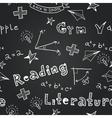 chalkboard school seamless pattern vector image