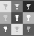 champions cup sign grayscale version of vector image vector image
