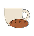 coffee and bread vector image vector image
