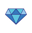 colorful beauty luxury diamond gen accessory vector image vector image