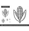 Corn ear line icon vector image vector image