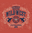 country wild west rodeo bull rider vector image vector image