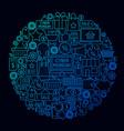 cyber monday line circle concept vector image