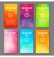 Design template set of web backgrounds Brochure vector image vector image