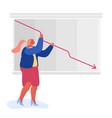 economy crisis statistics businesswoman loss of vector image vector image