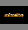 education word text banner postcard logo icon vector image vector image