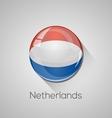 European flags set - Netherlands vector image vector image