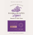 family recipe grapes liquor acohol label abstract vector image