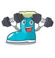 fitness winter boot shoe in shape cartoon vector image vector image