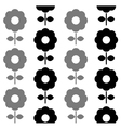 Floral seamless pattern - black and white vector image vector image