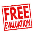 free evaluation sign or stamp vector image vector image