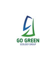 go green eco concept letter g icon vector image vector image